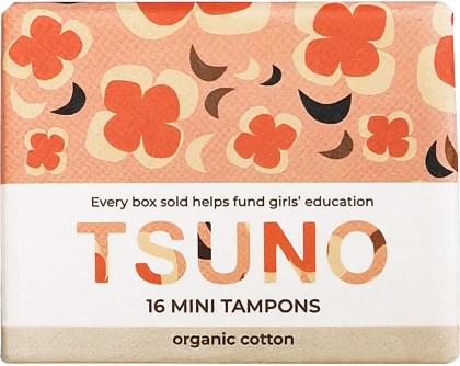 Tsuno Organic Cotton Tampons 16 Mini