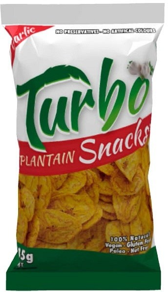Turbo Snacks Plantain Garlic 45g