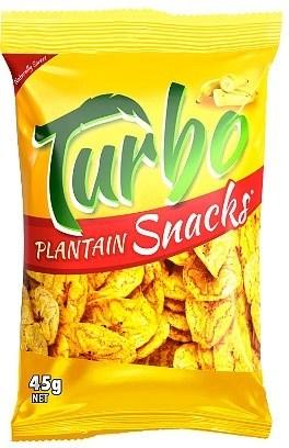 Turbo Snacks Plantain Naturally Sweet 45g