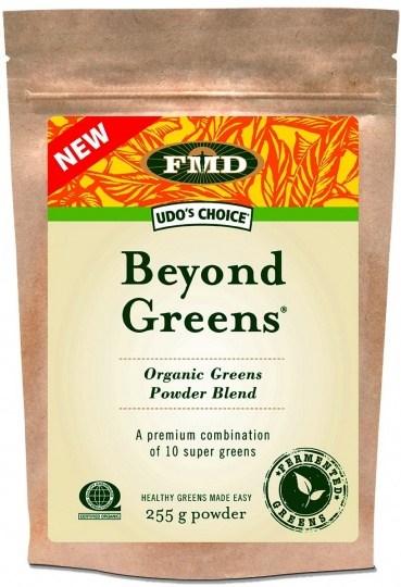 Udo's Beyond Greens Organic Greens Powder Blend Resealable Bag 255g