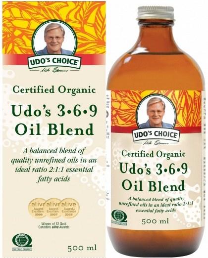 Udo's Choice Organic 3-6-9 Oil Blend 500ml AUG21