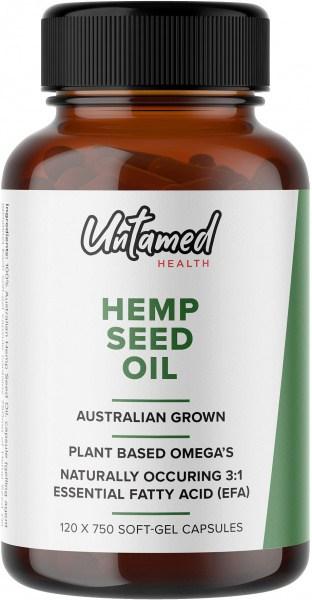 Untamed Health Hemp Seed Oil  120 Softgel caps