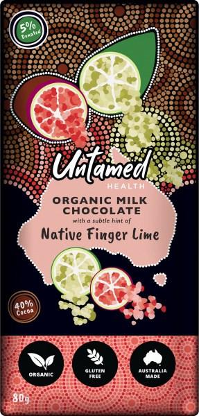 Untamed Health Native Finger Lime Organic Milk Chocolate 80g