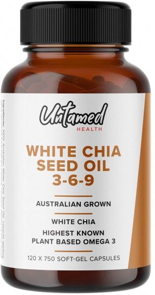 Untamed Health White Chia Seed Oil 3-6-9 120 Softgel caps