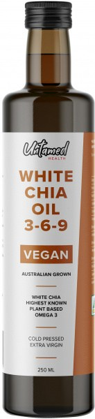 Untamed Health White Chia Seed Oil 3-6-9  250ml