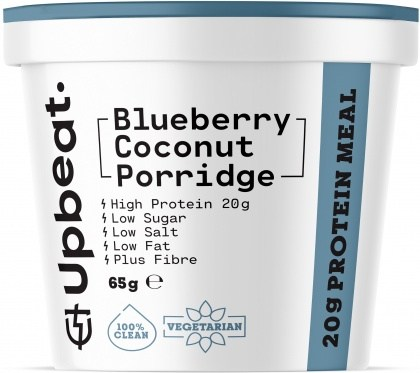 Upbeat Blueberry Coconut Porridge Protein Ready Meal 65g