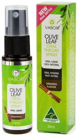 Vabori Olive Leaf Extract Oral Throat Spray Cinnamon  25ml