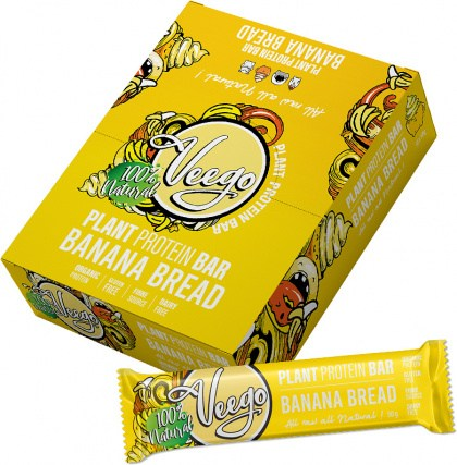 Veego Plant Protein Bar Banana Bread  10x50g