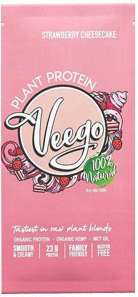 Veego Plant Protein Powder Sachet - Strawberry Cheesecake  20g