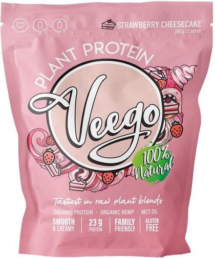 Veego Plant Protein Powder - Strawberry Cheesecake  1.12kg - 28 Serves