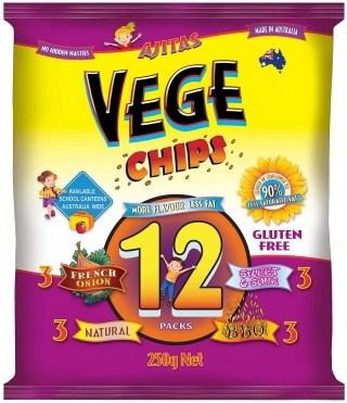 Vege Chips Multi 12 Pack   250g