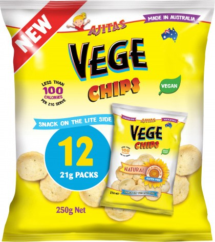 Vege Chips Natural  Multipack 12Pack  250g