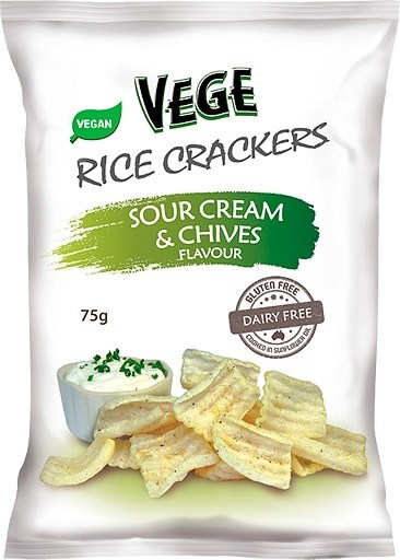 Vege Rice Cracker Sour Cream & Chives  5x75g