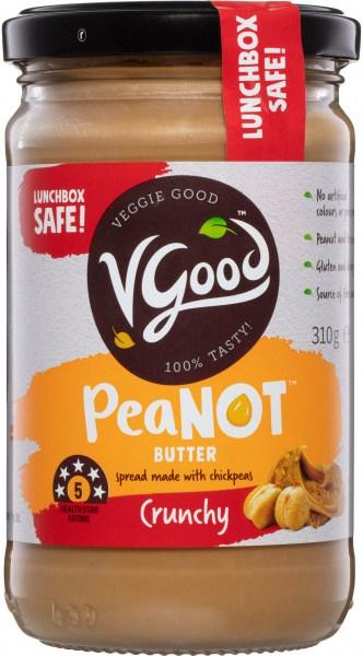 VGood PeaNOT Butter Crunchy  310g