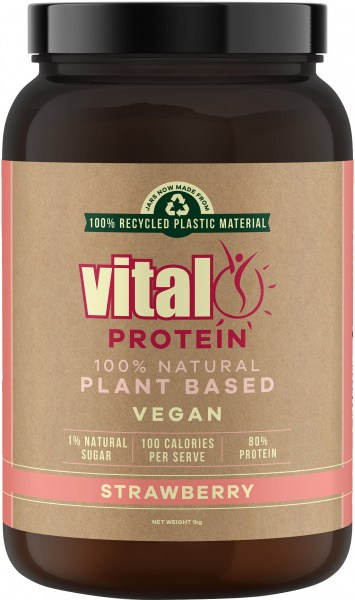 Vital Pea Protein Isolate Strawberry 1Kg