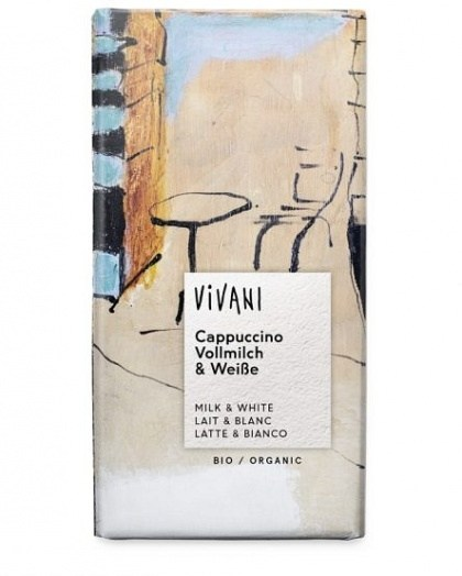 Vivani Cappuccino Organic Chocolate Block 100g