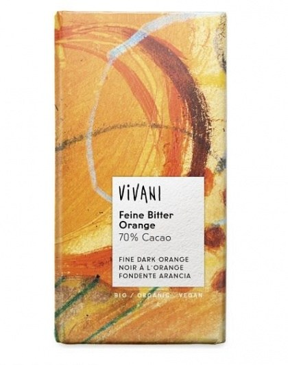 Vivani Dark Orange 70% Organic Chocolate Block100g