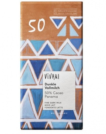 Vivani Organic Single Origin 50% w/Coconut Blossum 80g