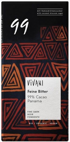 Vivani Organic Single Origin Dark Chocolate 99% 80g