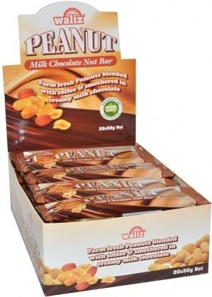 Waliz Peanut Milk Chocolate Nut Bar  20x50g