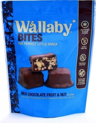 Wallaby Bites Milk Chocolate Fruit&Nut Tray 150g