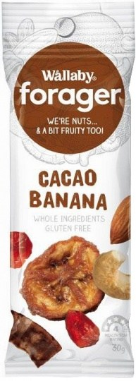 Wallaby Forager Cacao Banana Snacks 8x35g