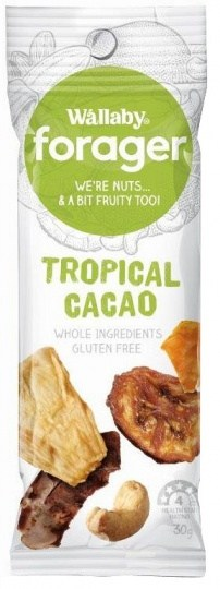 Wallaby Forager Tropical Cacao Snacks 8x35g MAR20