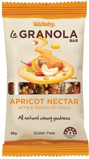Wallaby LeGranola Bars Apricot Nectar 10x38g