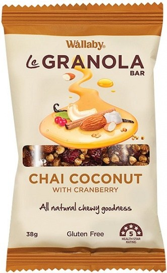Wallaby LeGranola Bars Chai Coconut 10x38g