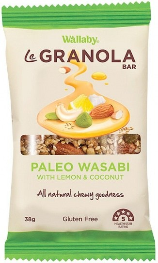 Wallaby LeGranola Bars Paleo Wasabi 10x38g