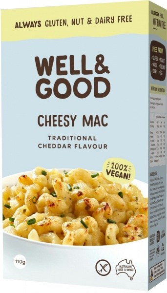 Well And Good Cheesy Mac Traditional Cheddar Flavour  110g