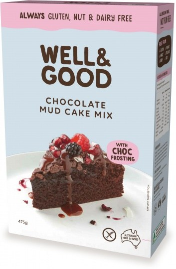 Well And Good Choc Mud Cake Mix & Choc Frosting  475g