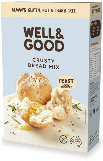Well And Good Crusty Bread Mix & Yeast  410g