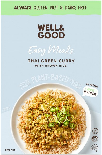 Well And Good Easy Meal Thai Green Curry With Brown Rice  170g NOV21