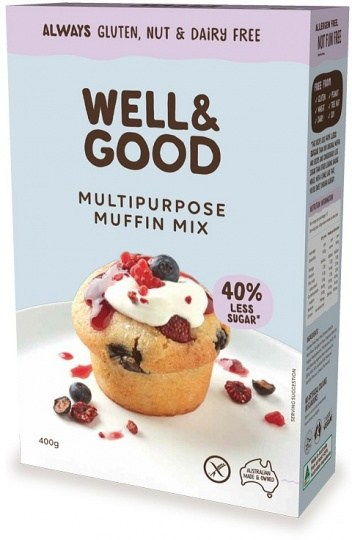 Well And Good Multi Purpose Muffin Mix (Red Sugar)  400g