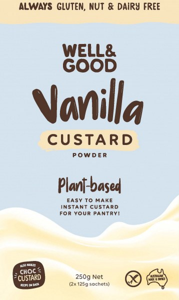 Well And Good Plant-Based Vanilla Custard Powder 2x125g Sachets