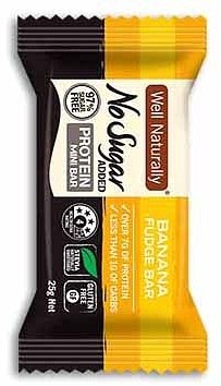 Well,naturally NAS Protein Mini Bar Banana Fudge 20x25g