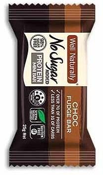 Well,naturally NAS Protein Mini Bar Choc Fudge 20x25g