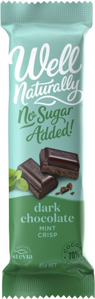 Well,naturally S/F Choc Bar Mint Crisp 16x45gm