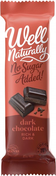 Well,naturally S/F Chocolate Bar Rich Dark 16x45gm