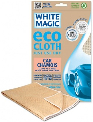 White Magic Eco Cloth Car Chamois - 60x40cm