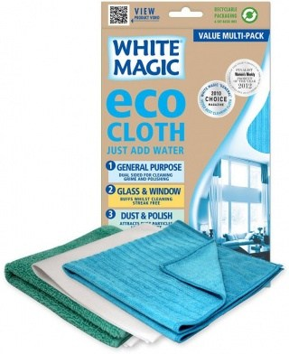 White Magic Eco Cloth Household Value Multipack - 40cmx40cm