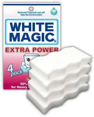 White Magic Extra Power Sponge 4Pk - 11x7x1cm