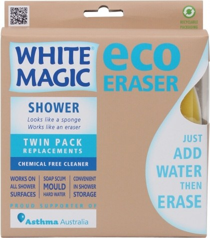 White Magic Shower Eraser Sponge Refill 2Pk - 15x7x4cm