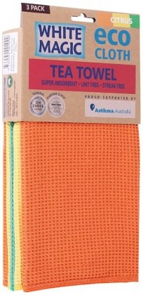 White Magic Tea Towel Citrus 3Pk - 70x50cm