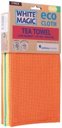 White Magic Tea Towel Citrus 3Pk - 70x50cm