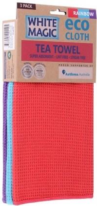 White Magic Tea Towel Rainbow 3Pk - 70x50cm
