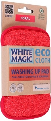 White Magic Washing Up Pad Coral - 15x8cm