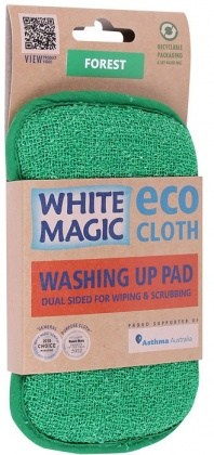 White Magic Washing Up Pad Forest - 15x8cm