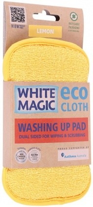 White Magic Washing Up Pad Lemon - 15x8cm